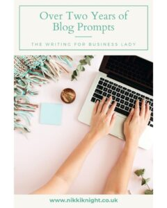 Blogging doesn't have to be hard with over two years of blog prompts.