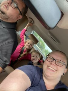 Family on a car journey